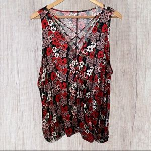 Maurice's Floral Soft Sleeveless Top